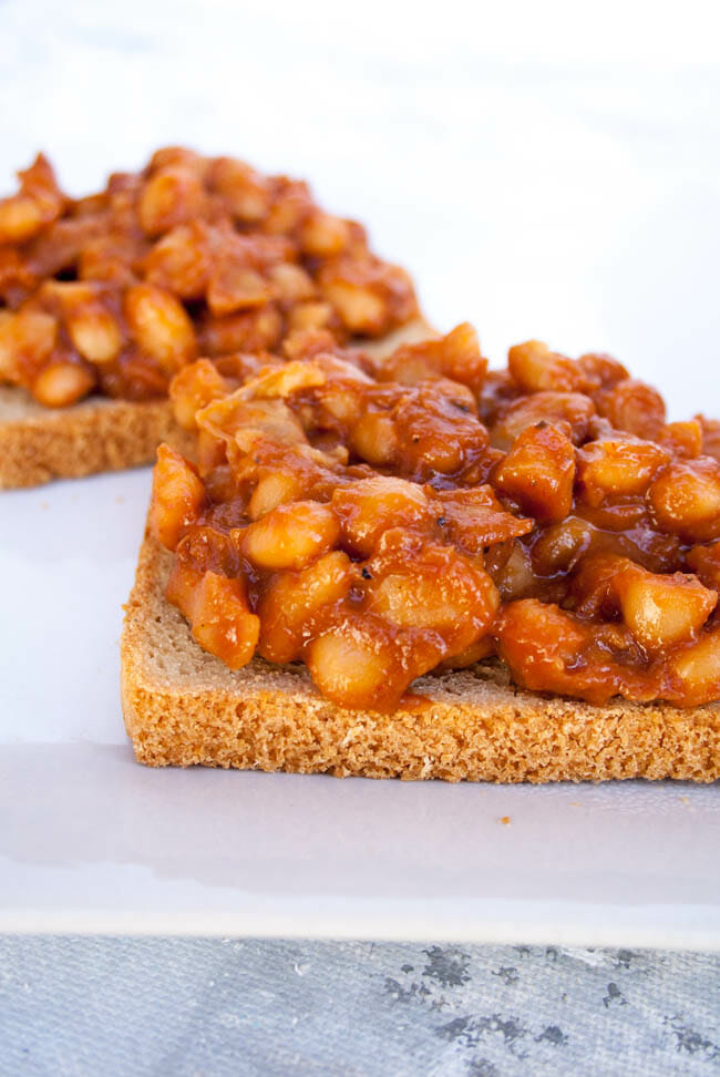 Sweet and Spicy Sriracha Beans on Toast