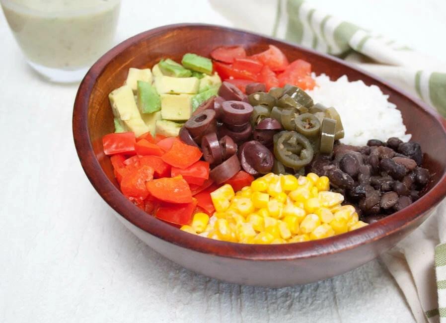 Vegan Burrito Bowl close up