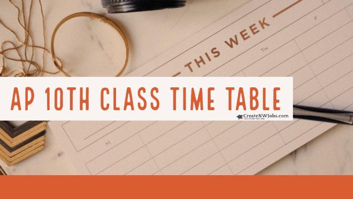 AP SSC Time table 2020 Manabadi Exam