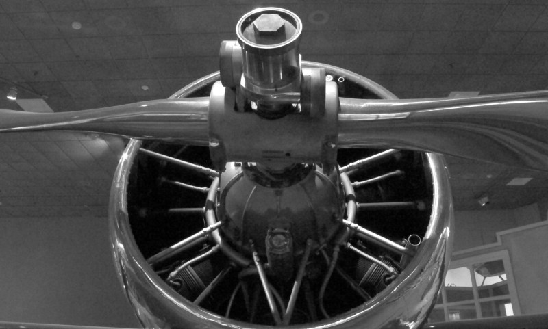 Black and White Propeller