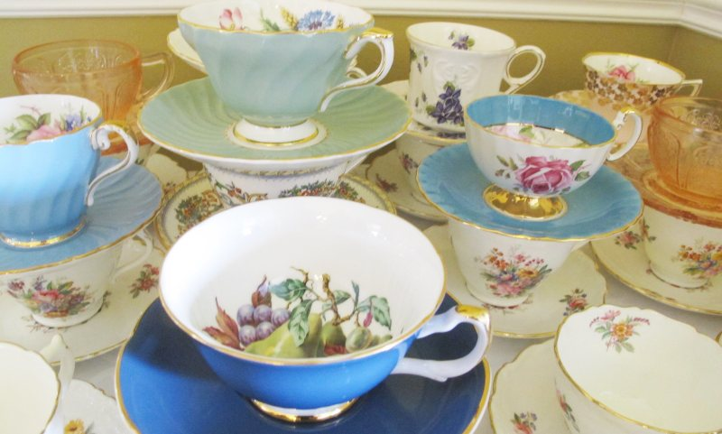 Cups and Saucers for Traditional Tea Party
