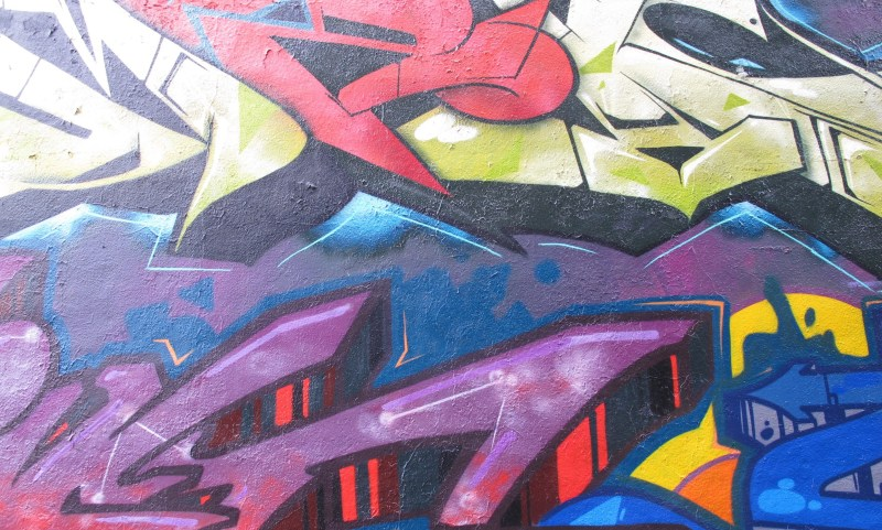 Brightly Coloured Abstract Urban Graffiti