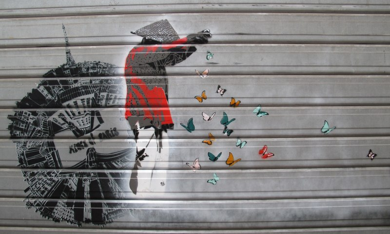 Paris Street Art - Butterflies