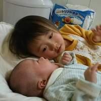 ちょうど2歳差!姉弟とトッポンチーノ