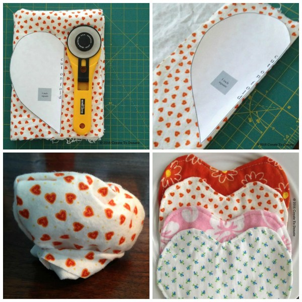 Sewing for charity - inspirational hearts for Preemies of the Carolinas.