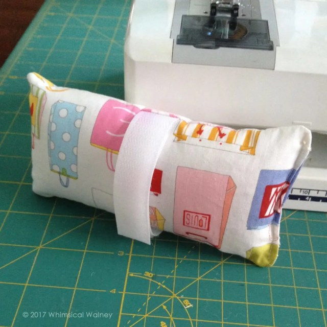 Completed chemo port pillow.