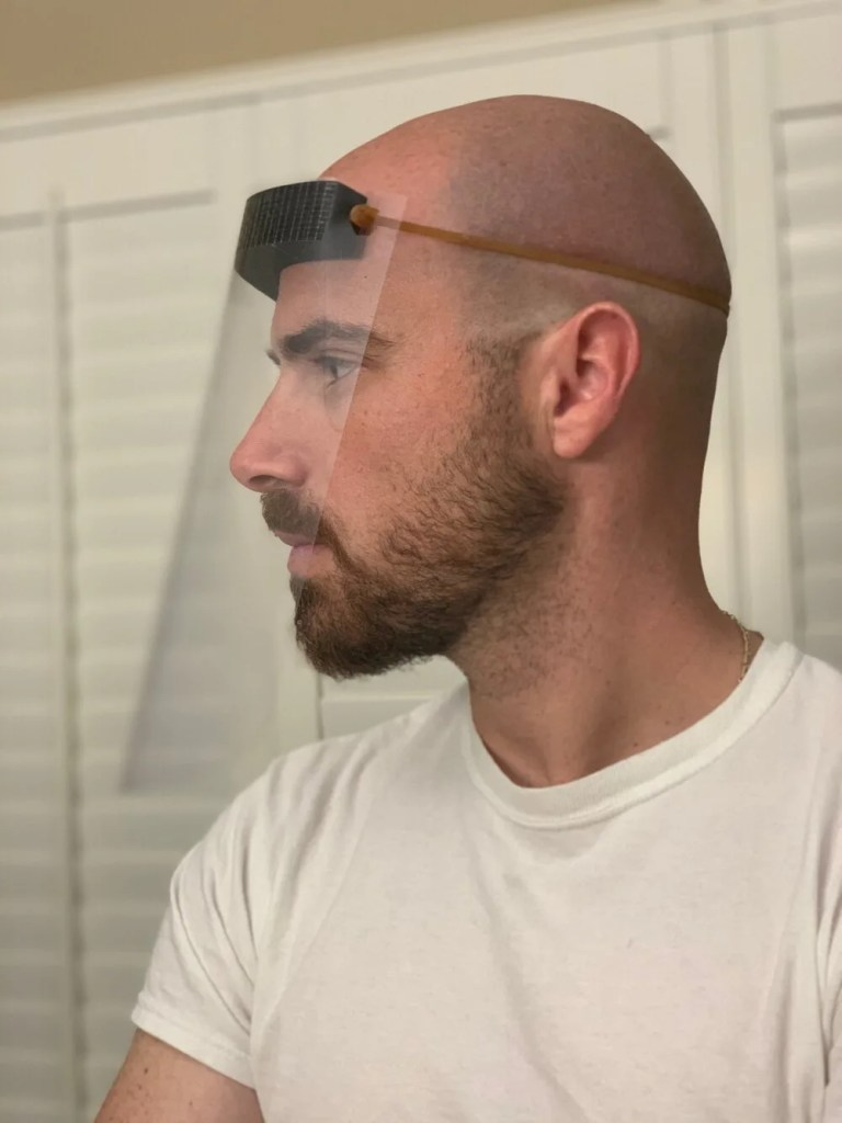 Make a face shield from three easy-to-source materials