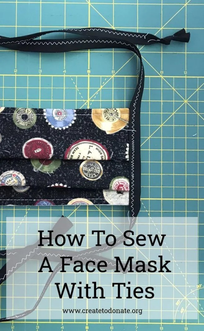 face mask with ties tutorial
