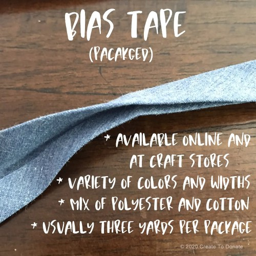 Best materials for face masks: you can use bias tape for ties.