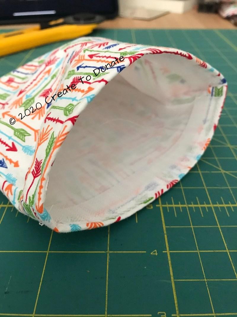 Finished reusable snack bag
