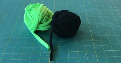 t-shirt yarn tutorial balls of tshirt yarn
