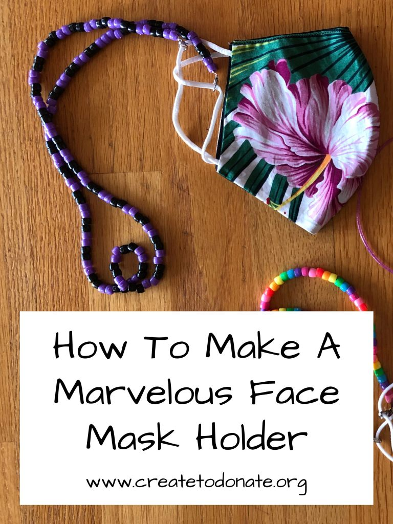 Make a mask holder and be marverlous