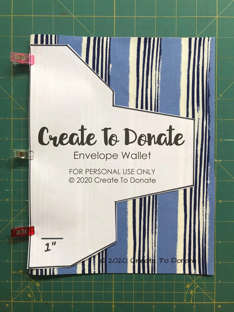 Cut the envelope wallet fabric pieces