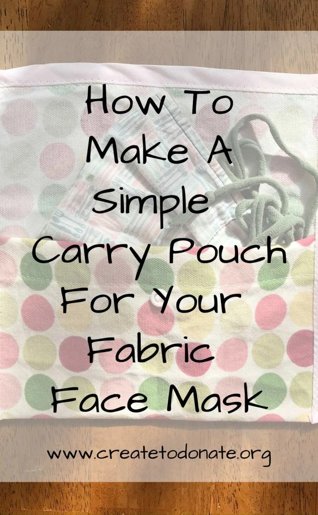 Simple carry pouch face mask PINME