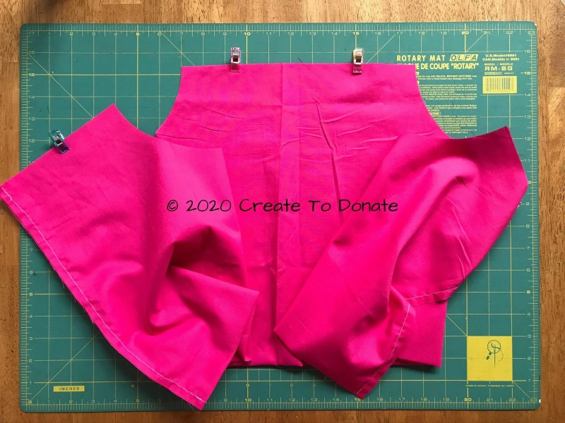 Unfold pillow fabric to prepare for sewing
