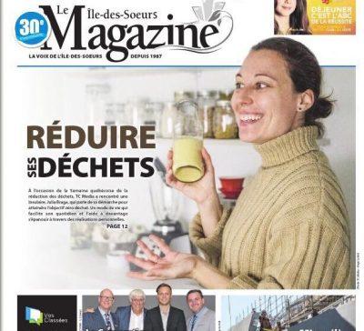 Page de couverture Magazine local - Semaine de réduction des déchets - Julia Braga