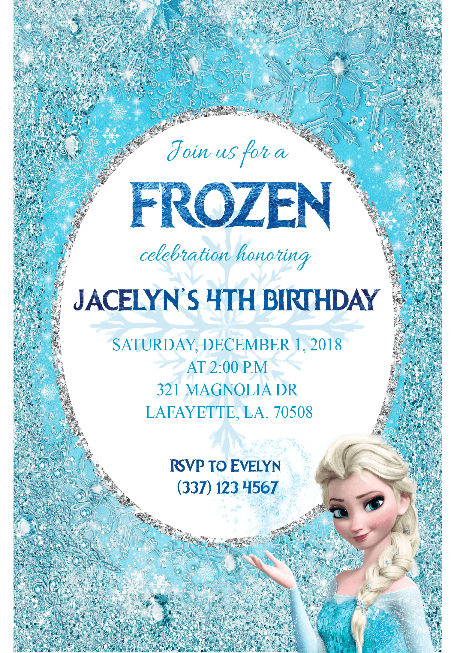 Frozen Birthday Invitation Printable Createve Stationery Designs