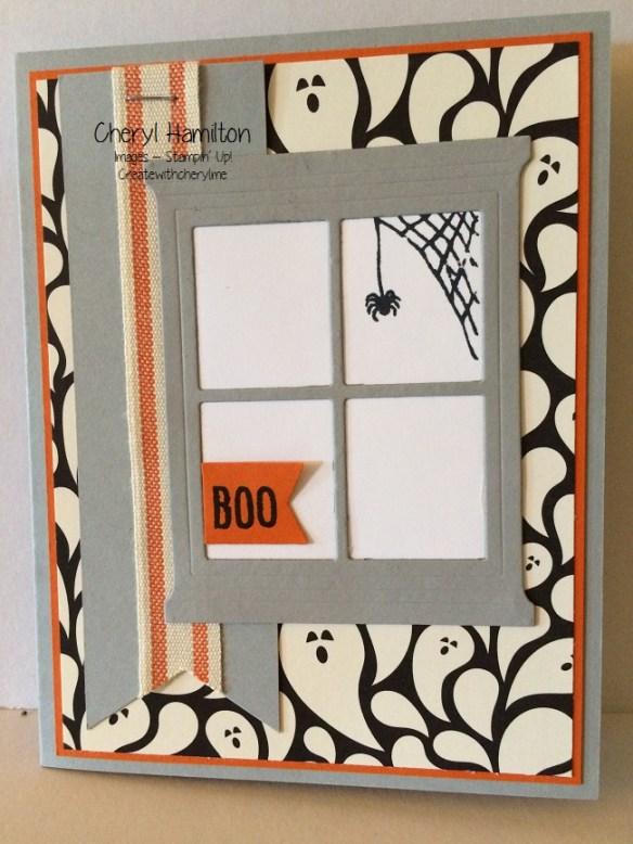 Halloween Window Card