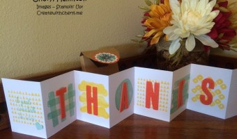 Paper Pumpkin Accordian Card