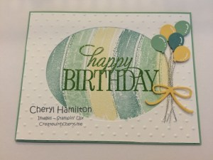 Create with Cheryl Happy Birthday