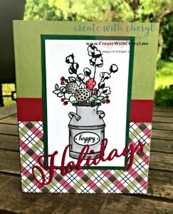 #createwithcheryl #cherylhamilton #stampinup #countryhome #handmadecards
