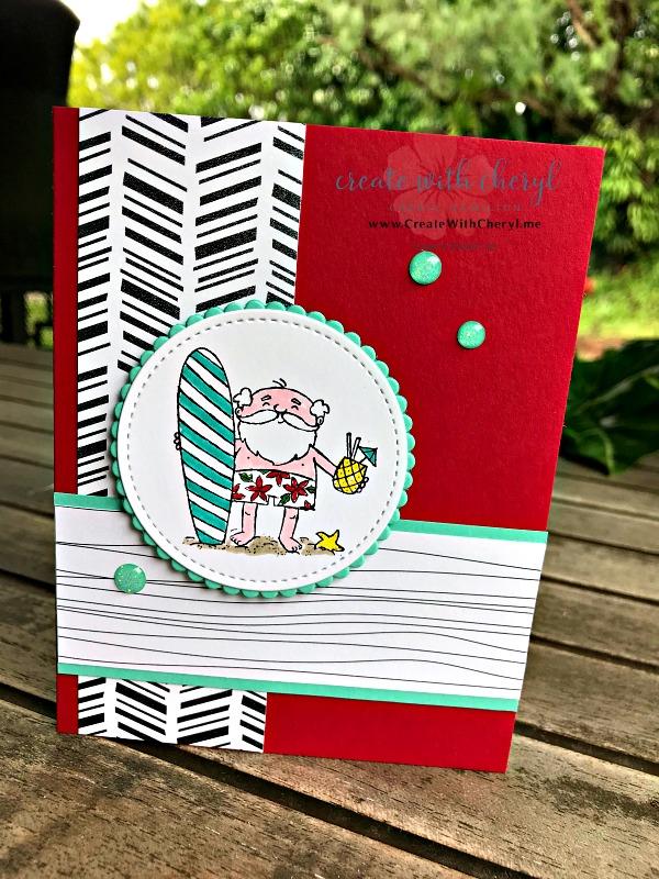 So Santa #createwithcheryl #cherylhamilton #stampinup #melekalikimaka #mauinokaoi #handmadecards #christmascards