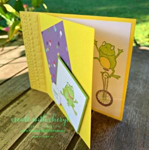 So Hoppy Together Fun Fold Card #createwithcheryl #sohoppytogether #saleabration