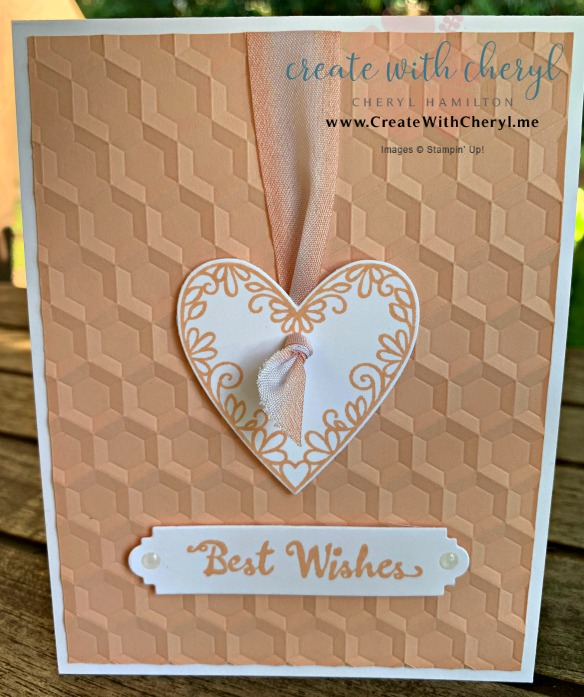 #createwithcheryl #stampinup #meanttobe #weddingcard