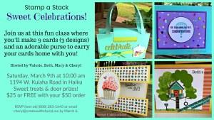 Sweet Celebrations! #createwithcheryl #sweettreats #diycards