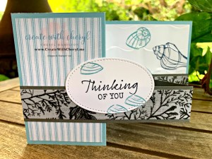 #seasidenotions #createwithcheryl #stampinup #cherylhamilton #funfoldcards #handmadecards