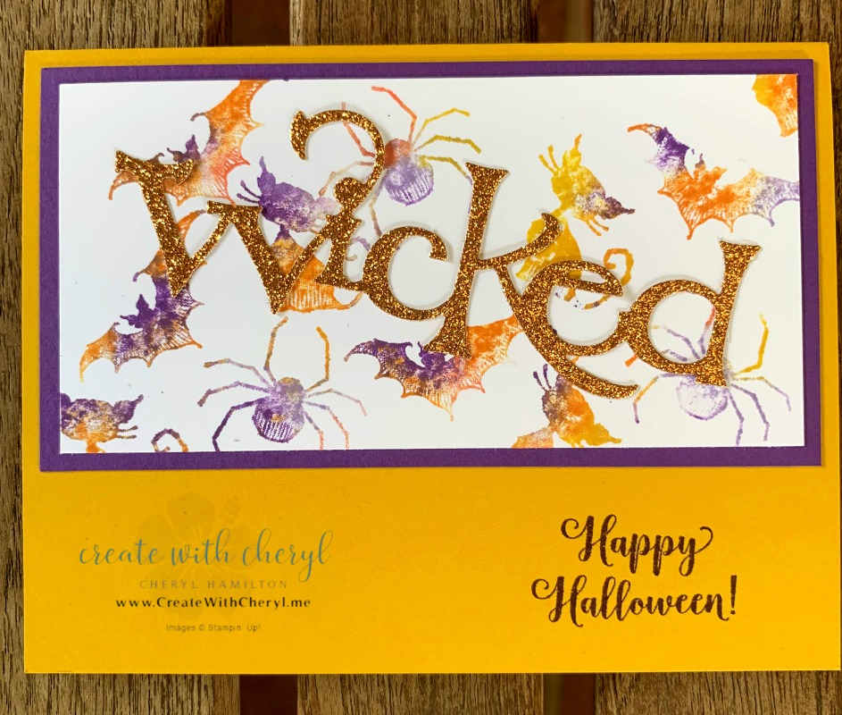 Halloween Card #createwithcheryl #halloweencards #wicked #babywipetechnique