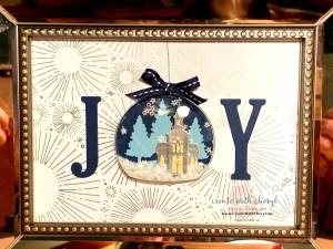JOY snow globe #createwithcheryl #diychristmas #snowglobe #joy