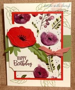 Painted Poppies #createwithcheryl ##paintedpoppies #handmadecards