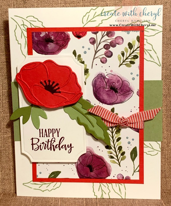 Painted Poppies #createwithcheryl ##paintedpoppies #handmadecards