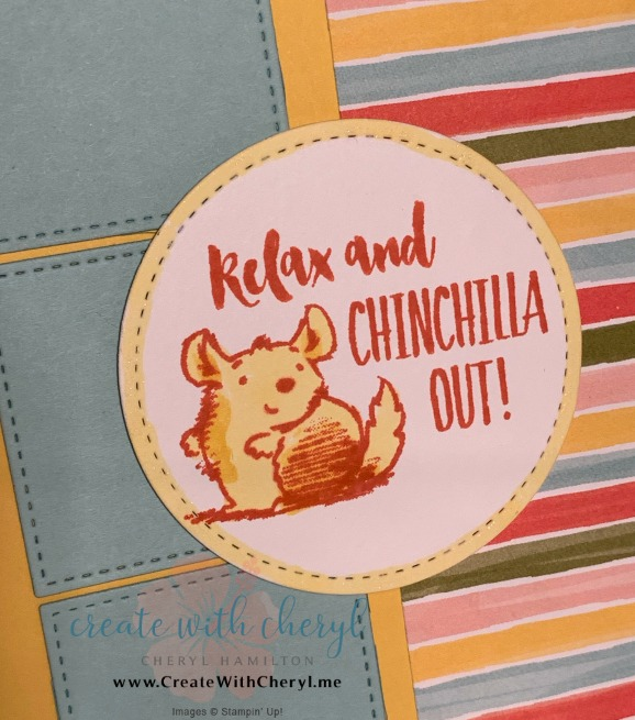 #CWCCL21 #createwithcheryl #handmadecards #wittycisms #chinchilla #rubberstamping
