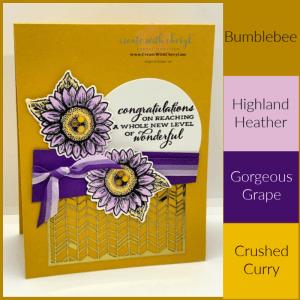 Inspired by Color Sunflower Card Cheryl Hamilton