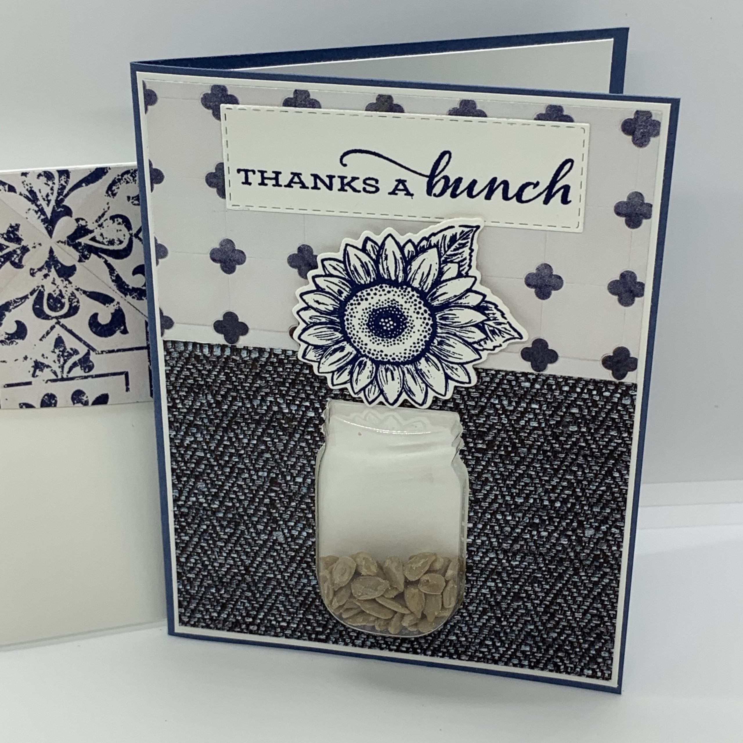 Jar of Flowers Shaker Card