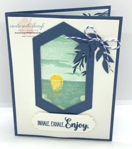 Sunset Over the Ocean Card