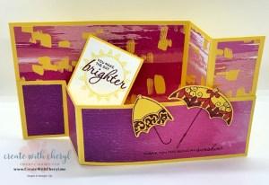 Pretty Parasol Wiper Fold Card