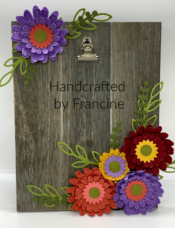 Handcrafted Daisy Easel