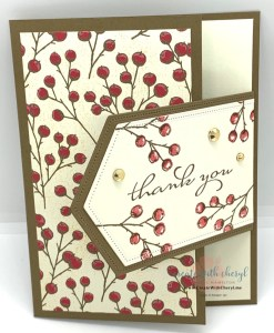 Hinge Fun Fold Thank You Card