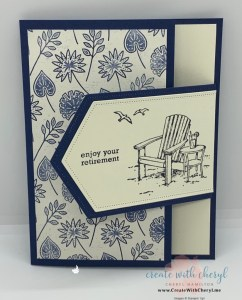 Seaside View Fun Fold Card