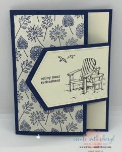 Seaside View Fun Fold Card