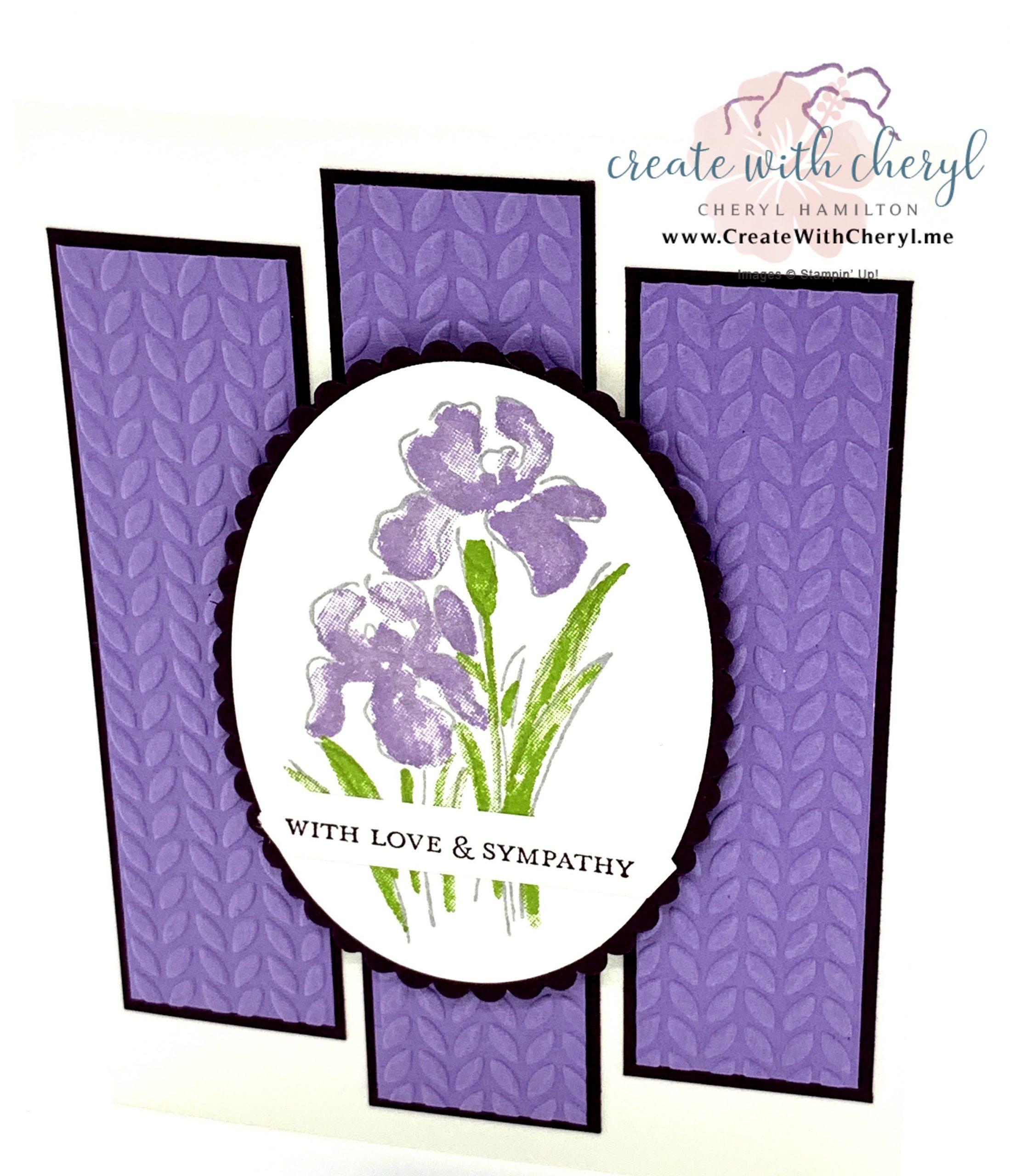 Inspiring Iris Sympathy Card