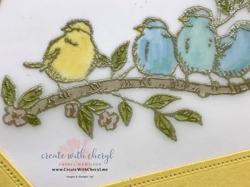 Bird Card using Stained Glass Technique