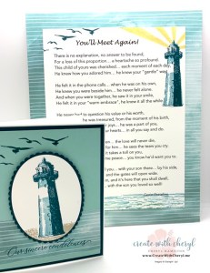 High Tide Background with Poem