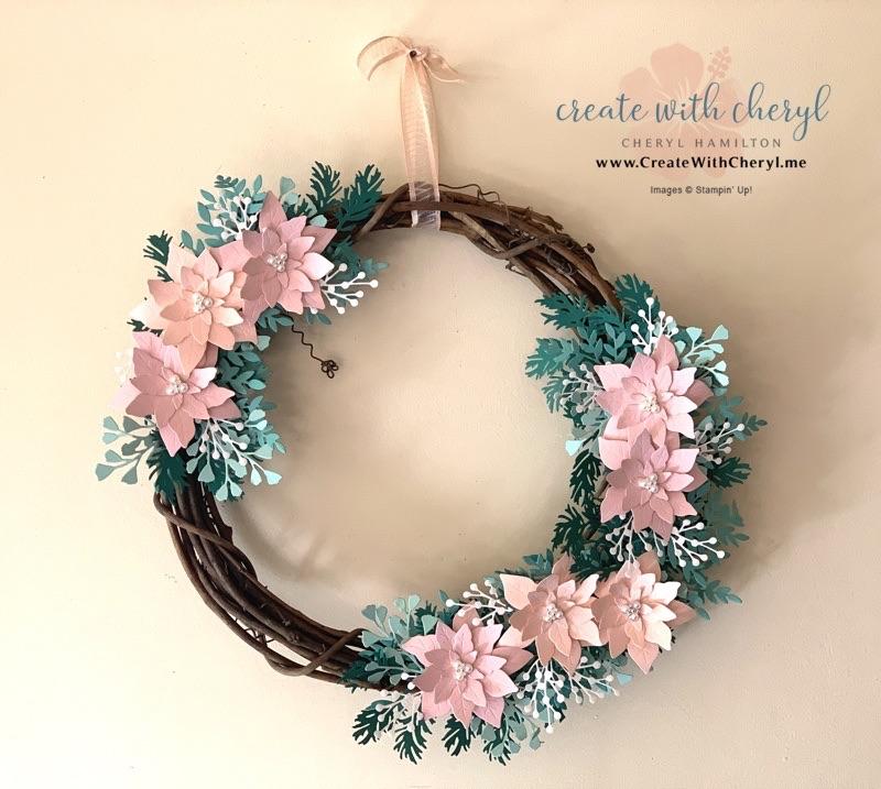 Poinsettia Wreath #cherylhamilton