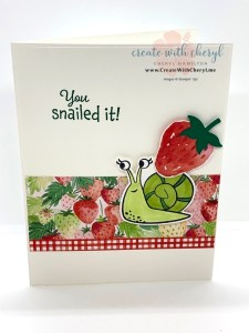 Snail in the Strawberries Card