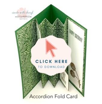 Accordion Fold Card Instructions by Cheryl Hamilton