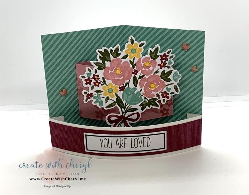 February 2021 Paper Pumpkin Bouquet of Hope Bendi Card